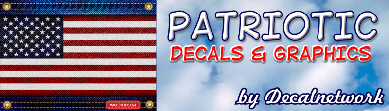 patriotic vinyl decal stick usa